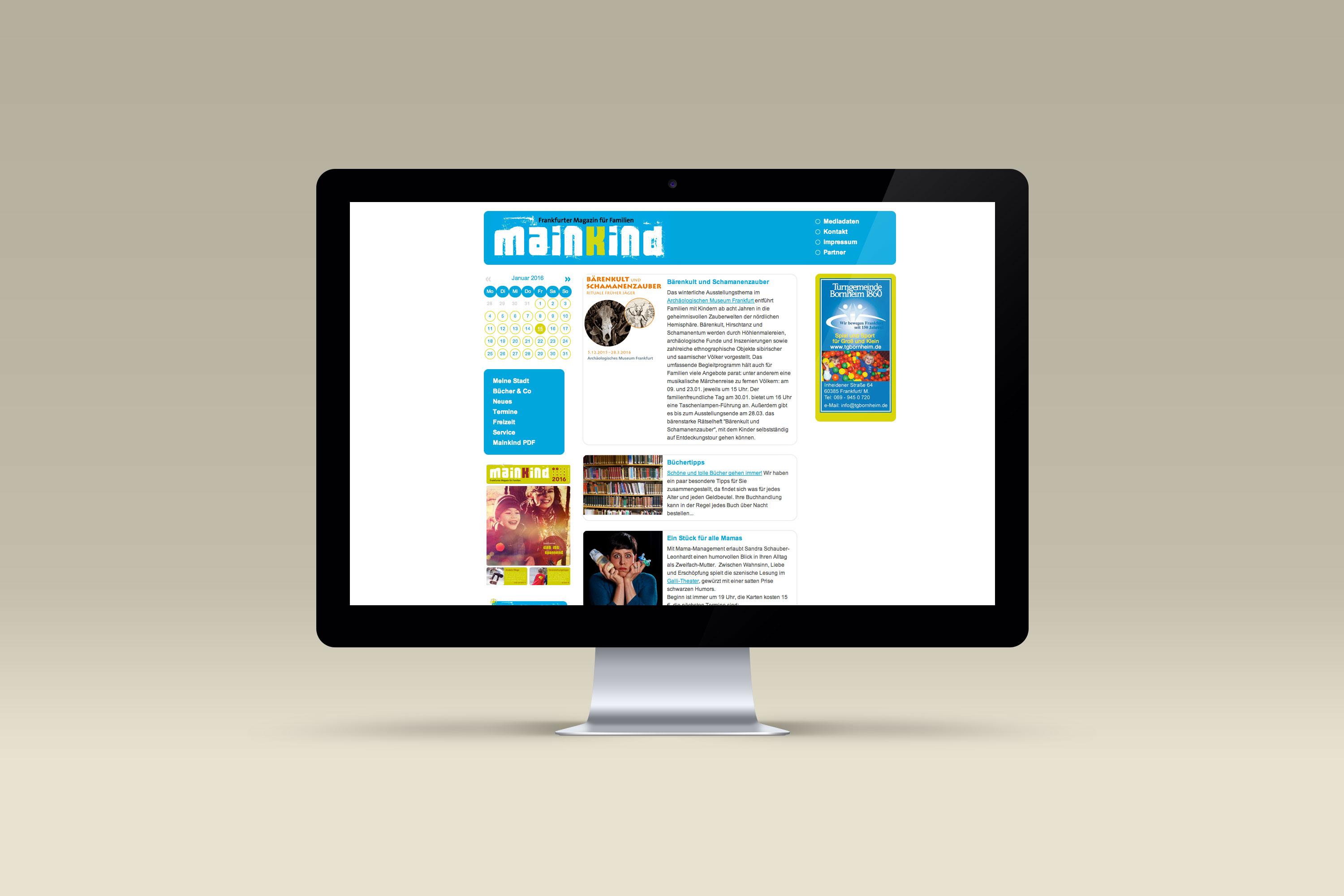 MainKind-Magazin Webseite